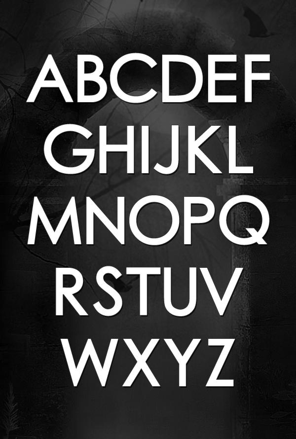 Chub Gothic font letters
