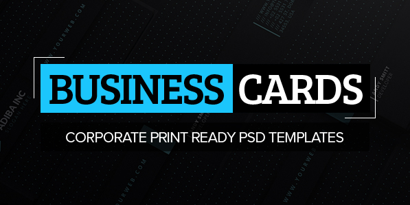 23 Corporate Creative Business Card PSD Templates