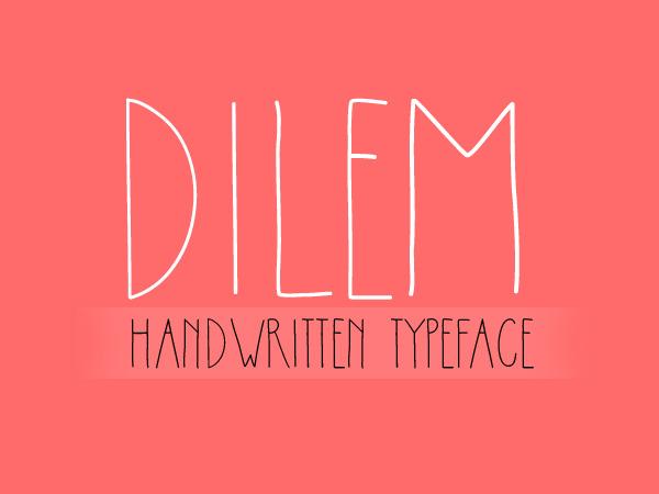 Dilem free font