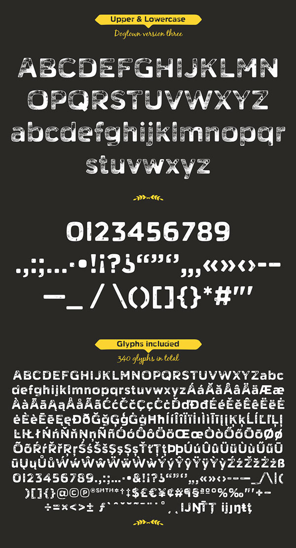 Dogtown Font Letters