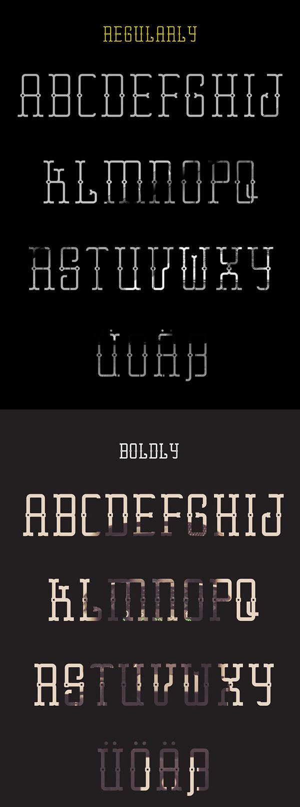 Erster Caps Font Letters