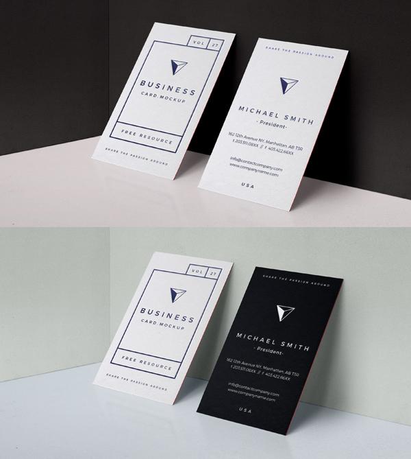 Free PSD Embose Business Card Mock-Up