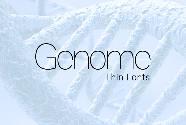 Genome Free Font