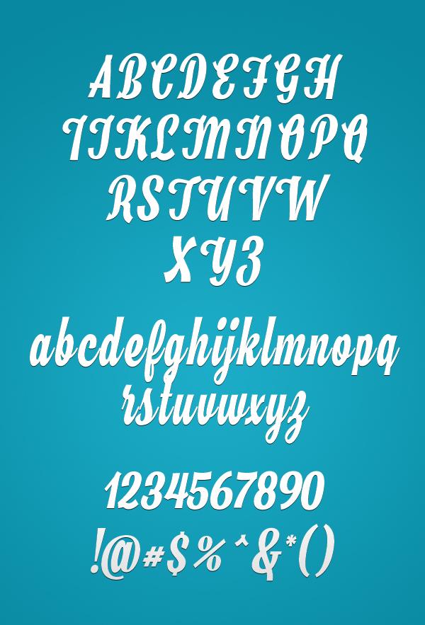Hamster Script Font Letters