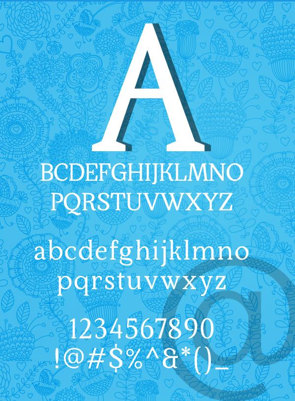 Kraskario font letters