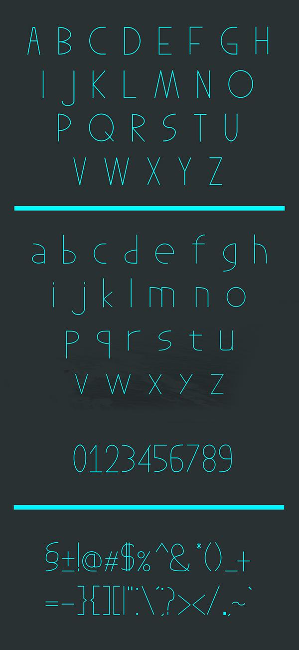 ModernFex Font Letters