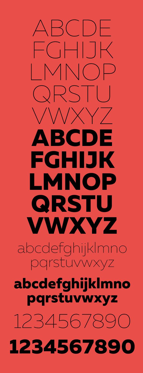 Muller font letters