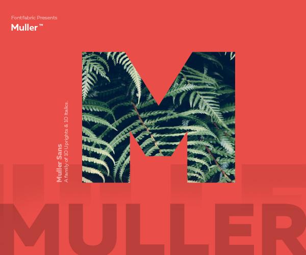 Muller free font