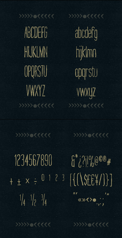 Nairobi font letters