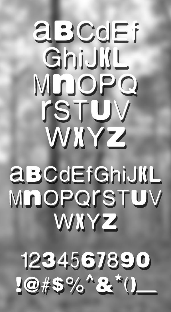 Nordica font letters