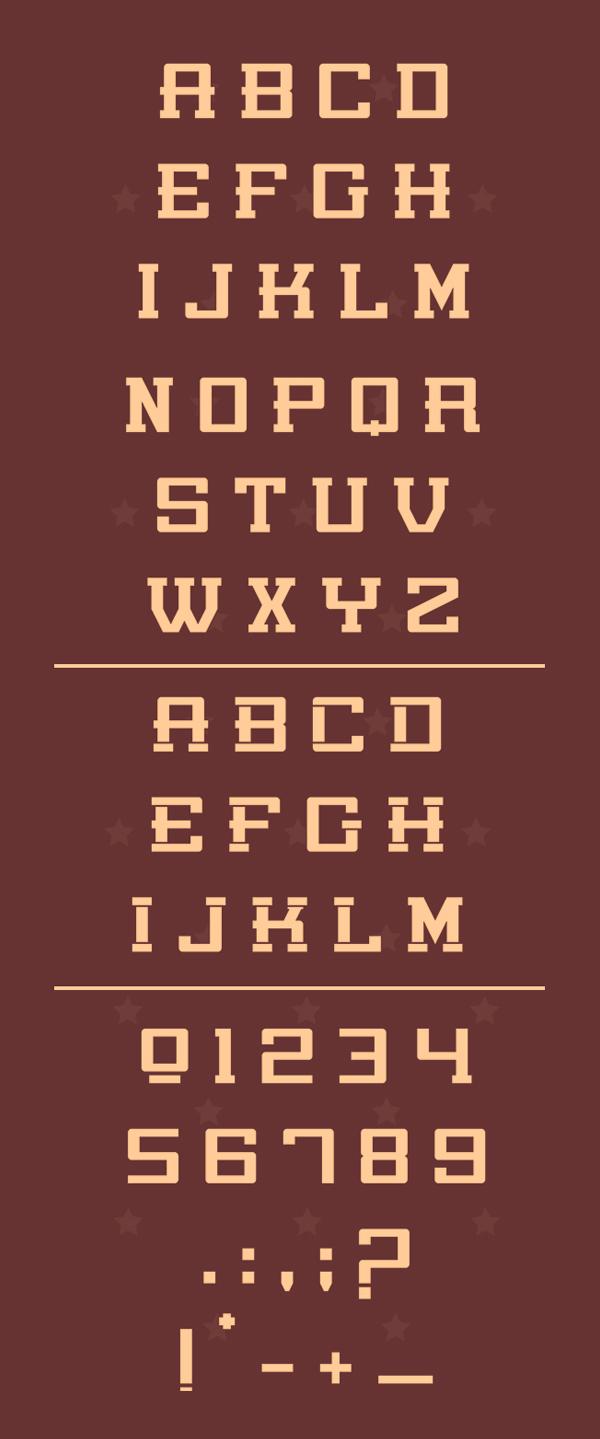 Poniente Font Letters