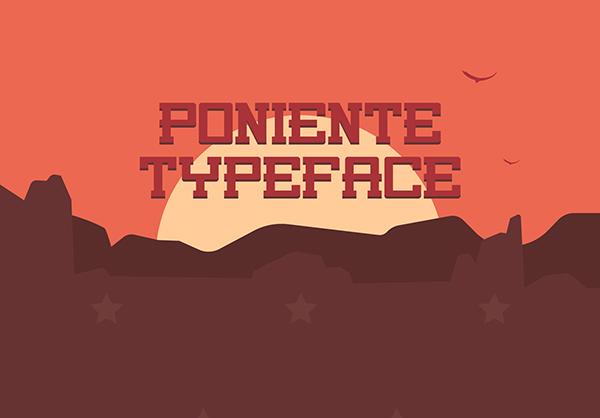 Poniente Free Font