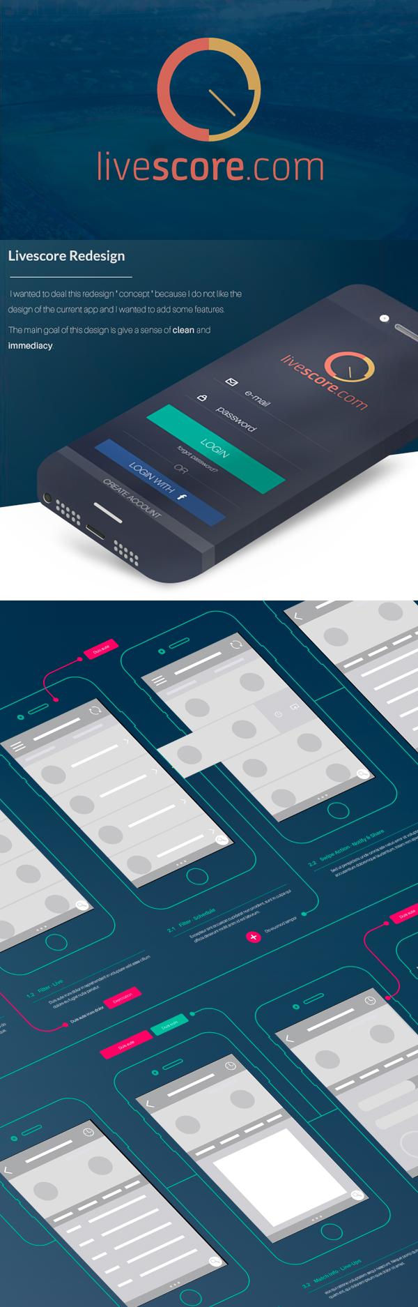 Livescore - Redesign IOS Concept - Free PSD
