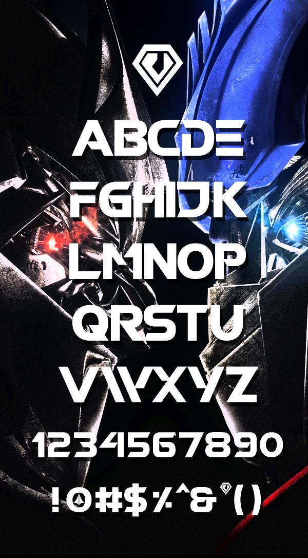 Robotech font letters