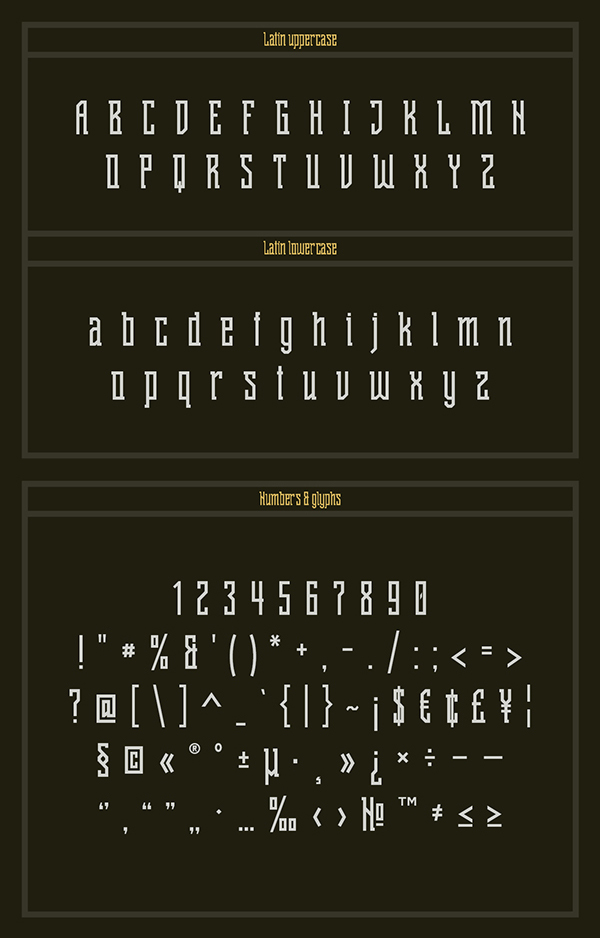 Shihan Font Letters