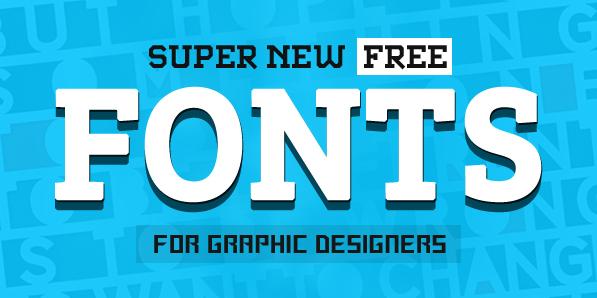 17 Super Free Fonts for Designers
