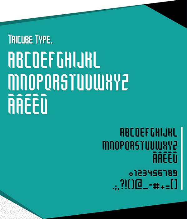 Tricube Font Letters