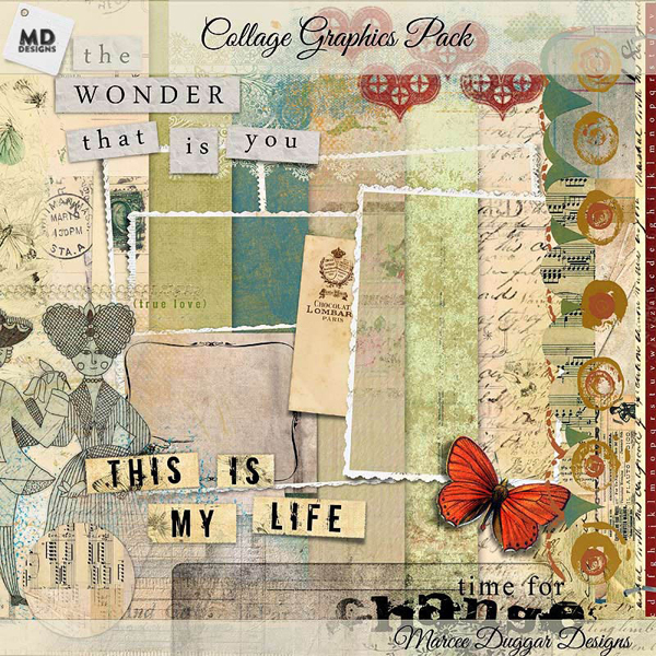 Vintage Collage Graphics Pack