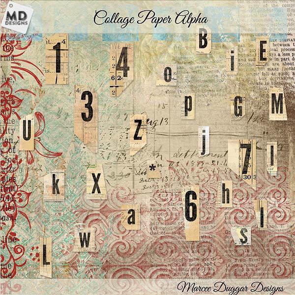 Vintage Paper Alpha Design