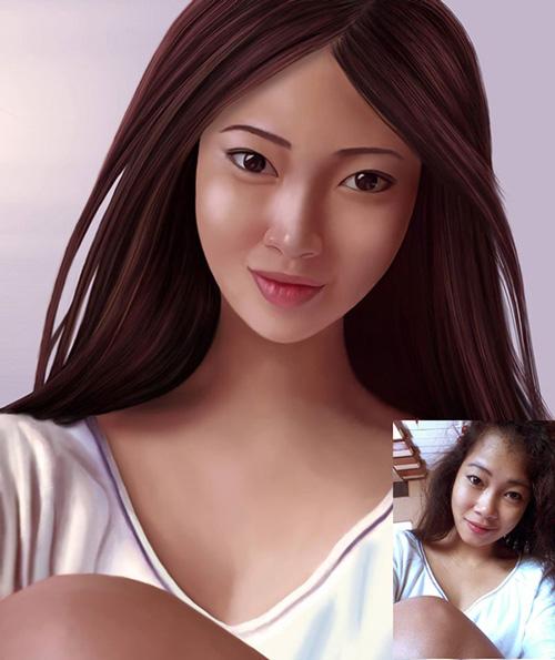 Digital Portrait Drawing by Josemer Lafuente