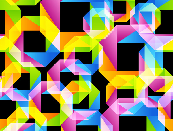 Free Seamless Pattern in Origami Style