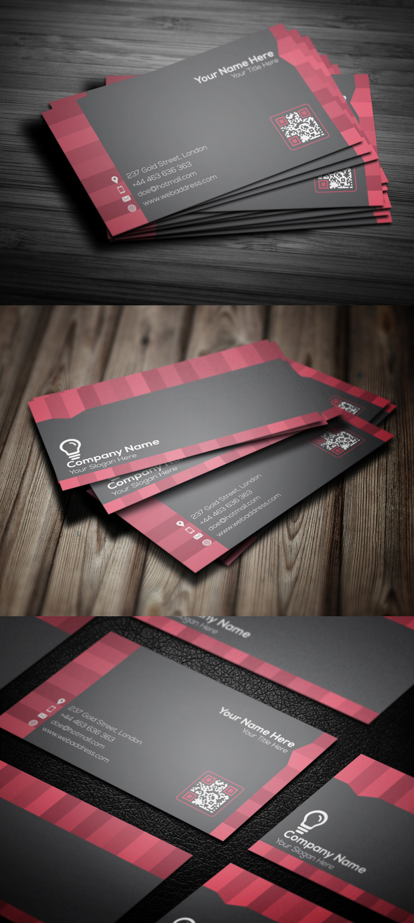 Free Corporate Business Card Template PSd