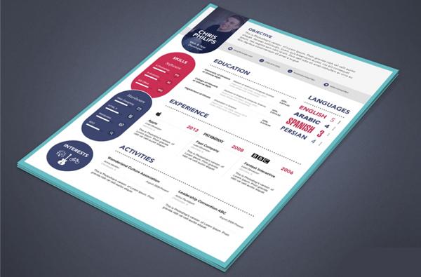 Free Elegant Resume & Cover Letter PSD Template
