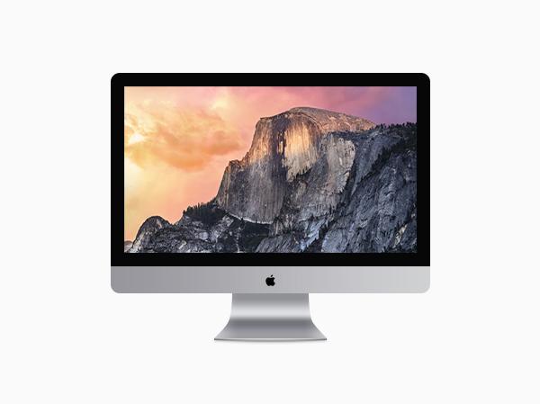 iMac Illustration in PSD File