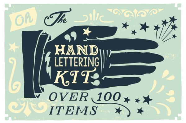 100 Items Handlettering Kit