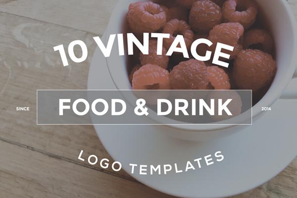 10 Food & Drink Logo Designs Bundle