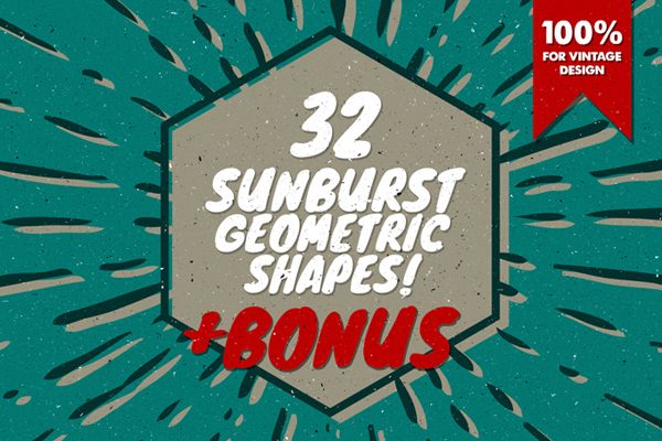 32 Sunbrust geometric shapes