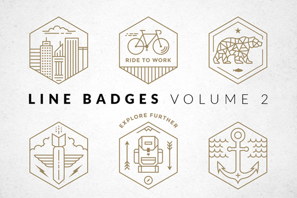 Line Badges and Logos