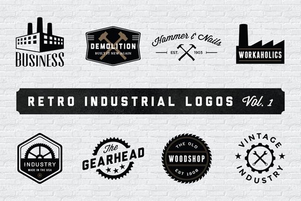 Retro Industrial Logos