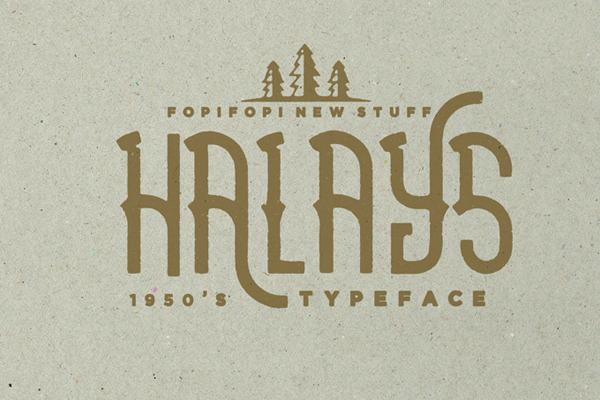 Halays Typeface is a unique font