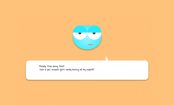 Pure CSS3 Face Animation & Web Visibility by Karsten Buckstegge