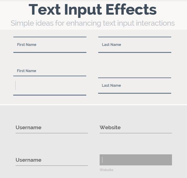 Creative Text Input Effects