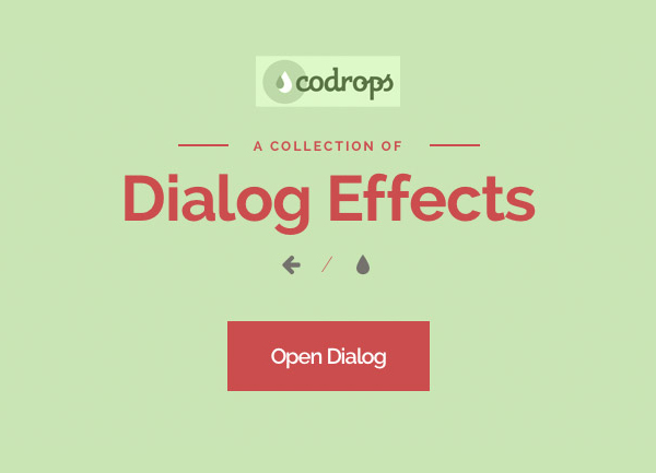 Inspiration For Dialog Effects by Codrops