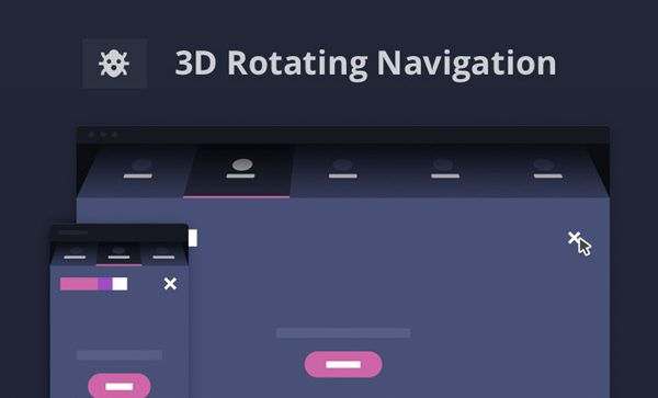 3D Rotating Navigation by CodyHouse