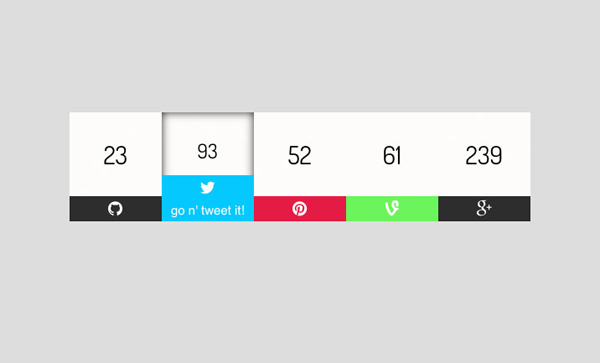NeatNait Social Share Buttons via CSSDeck