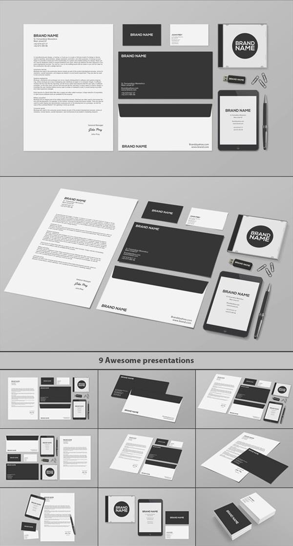 Stationery / Branding PSD MockUp