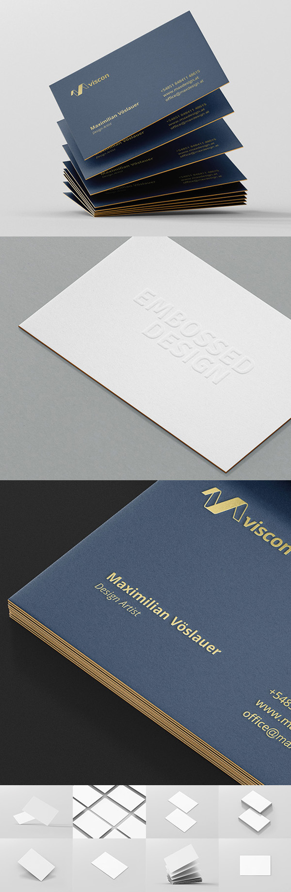 Photorealistic Mockups of Business Cards