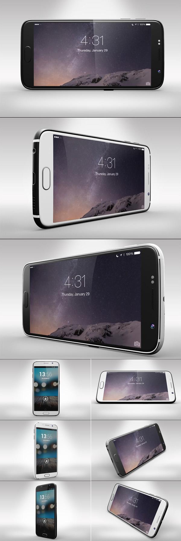 Samsung Galaxy s6 PSD Mockups