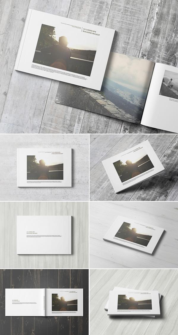 A4 Landscape Magazine / Catalogue Mockup