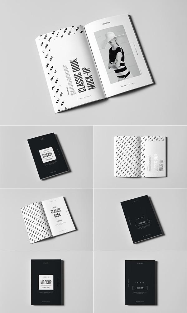 Classic Book Mockup Design