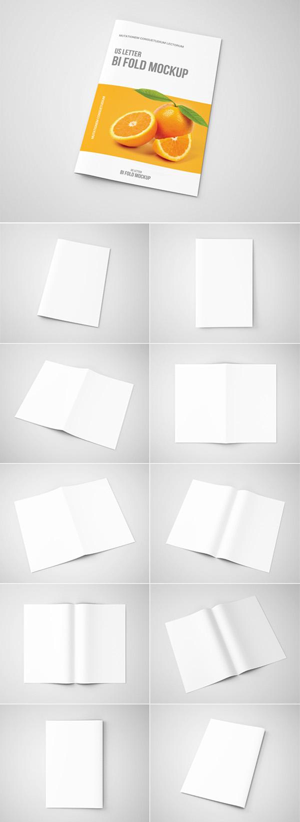Bi-Fold Brochure Mock-Up - US Letter