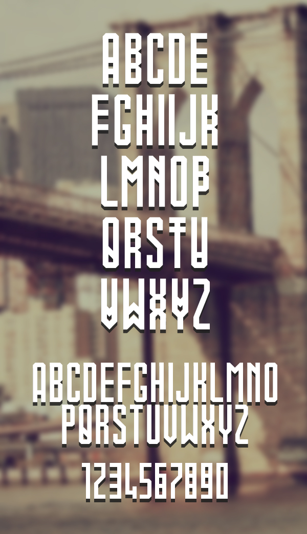 stacked Font Letters