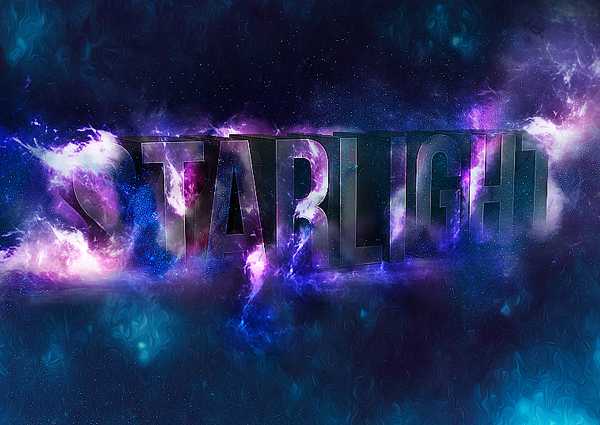 Create 3D Star Light Text Effect in Photoshop