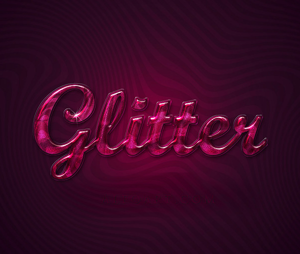 How to Create Extreme Glossy and Shiny Text Effect in Photoshop Tutorial
