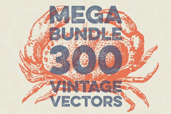 300 Fine Vintage Vectors