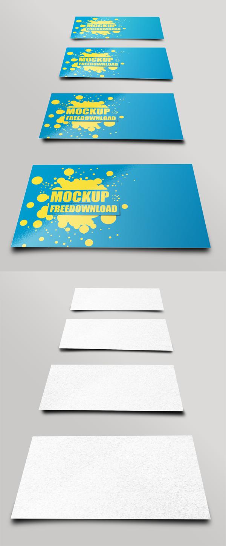Free Business Card PSD Mockup Template